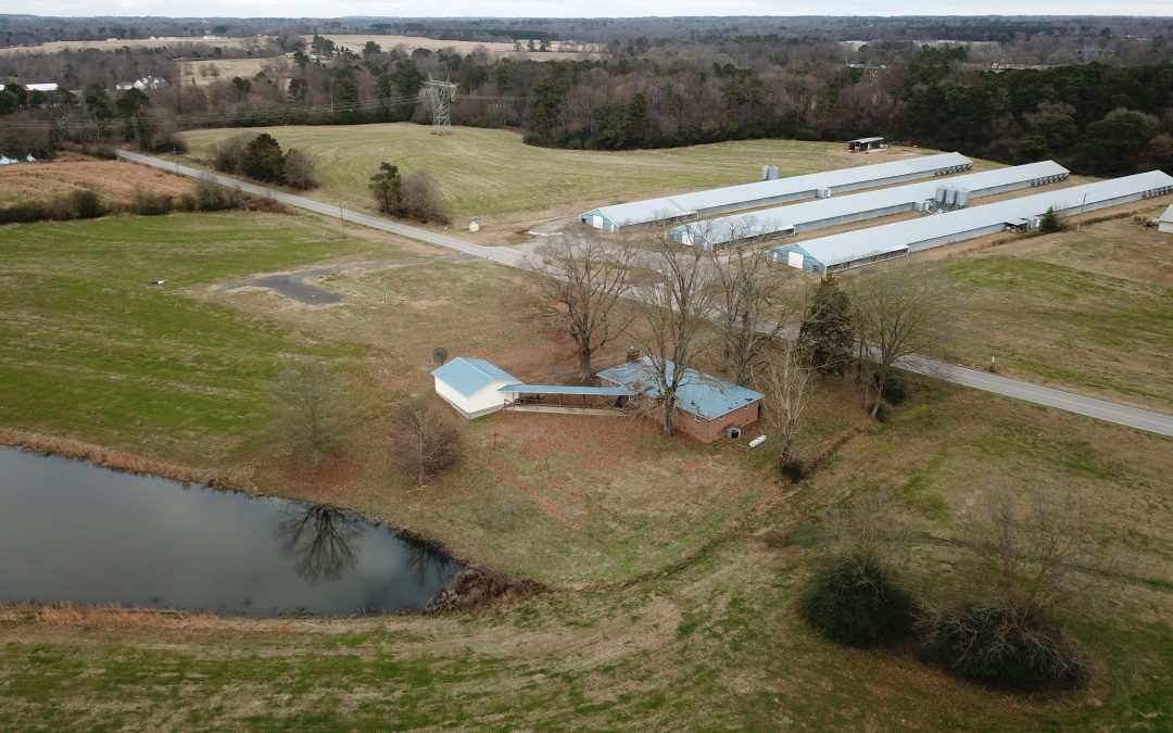 SOLD! 3 House Broiler Farm, 48+/- Acres, and Home For Sale near Albertville